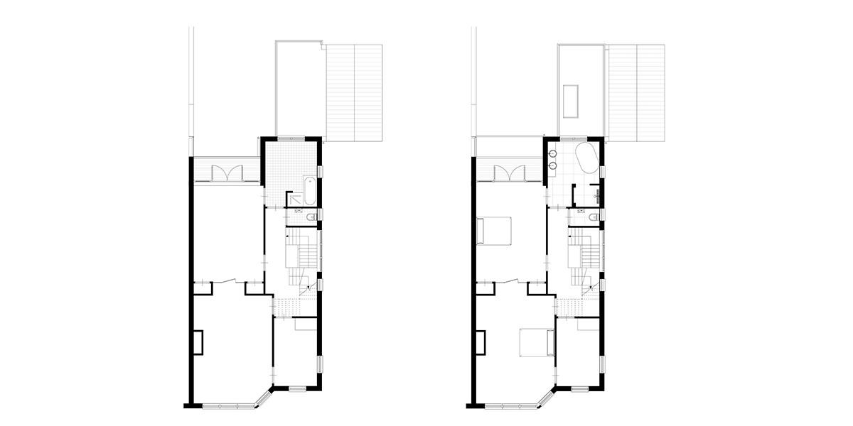 6-3-aanbouw-jaren-30-woning-verdieping-1-bestaand-en-nieuwe-situatie