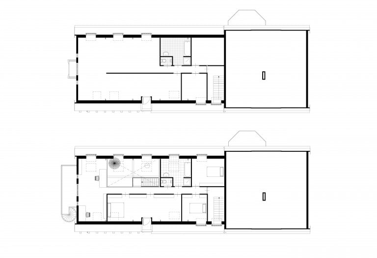 7-transformatie-stal-tot-woonhuis-plattegronden-1ste-verdieping-bestaand-en-nieuw