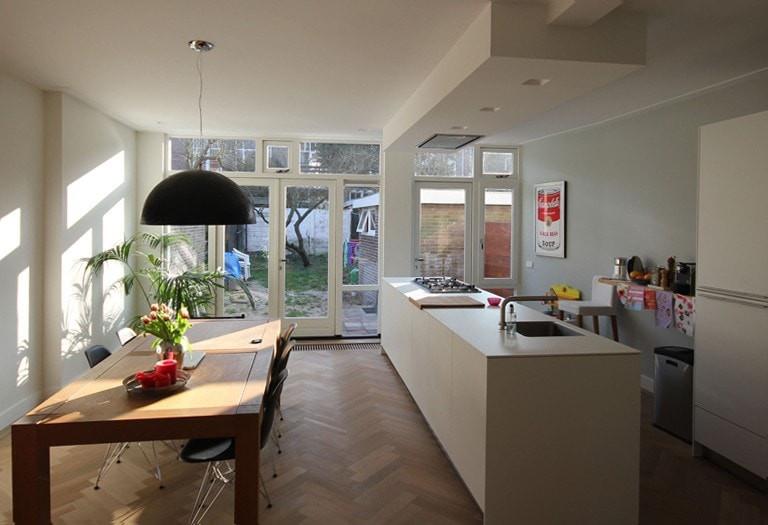 Aanbouw Open Keuken : Aanbouw jaren woning